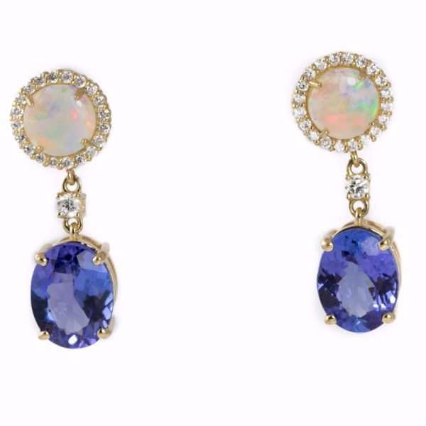 Colours Opal and Tanzanite Earring