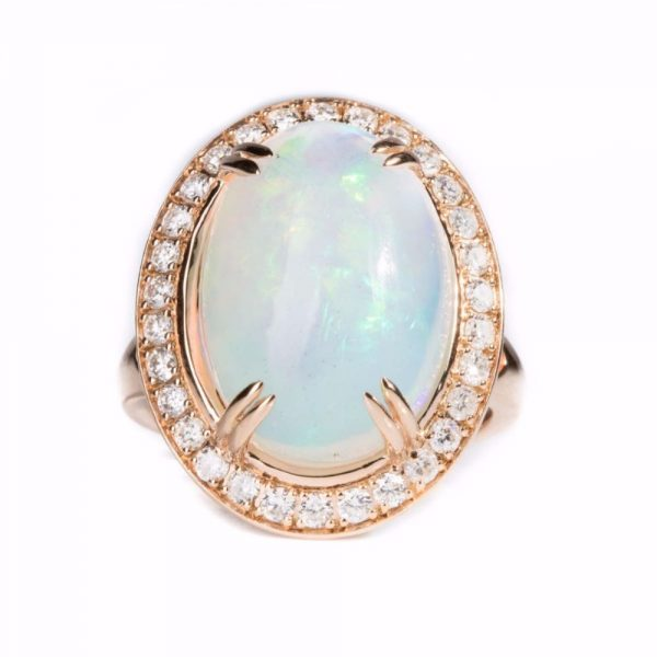 Gold | Opal Diamond | Cocktail Ring online from Kajal Naina
