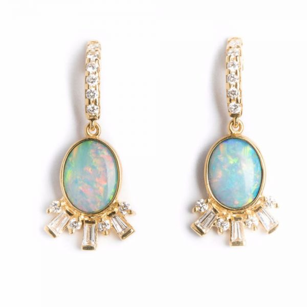 D'Tara Opal and diamond Earring