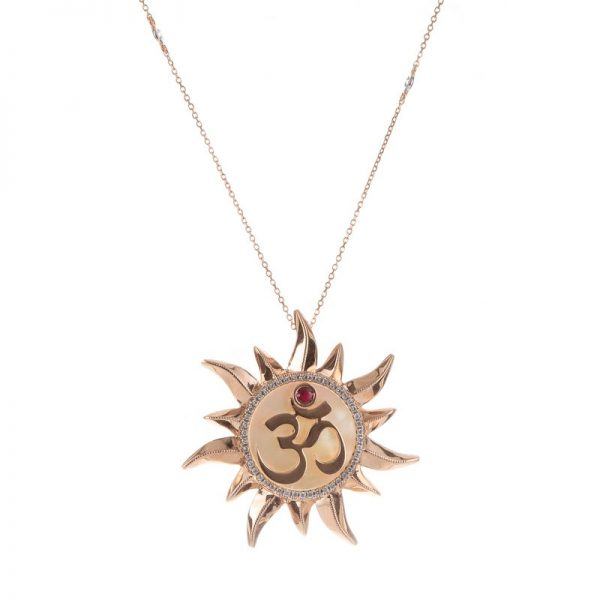 Glow- Sun necklace with Aum