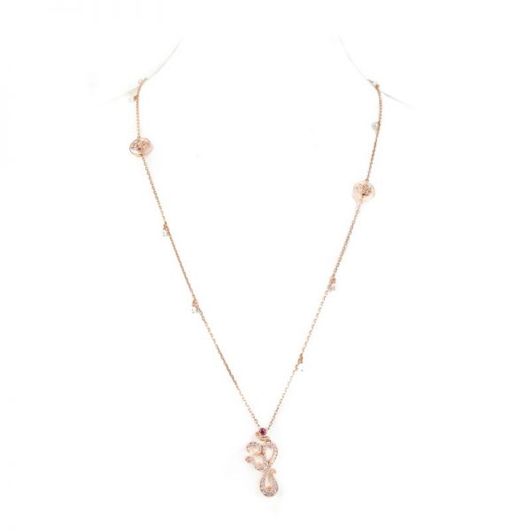 Gold | Diamond Long Satoir Aum Necklace from Kajal Naina
