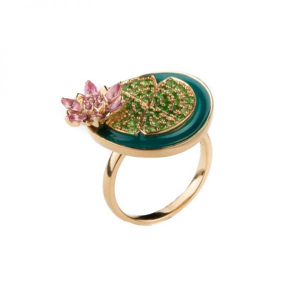 Lotus in a pond Ring