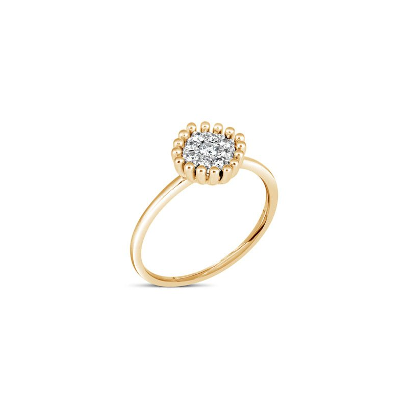 Bling Cushion Ring 14K