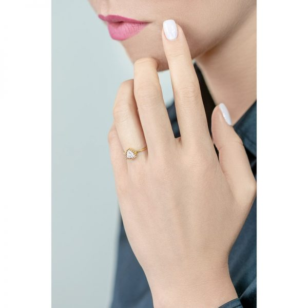 Bling Trillion Ring 18K