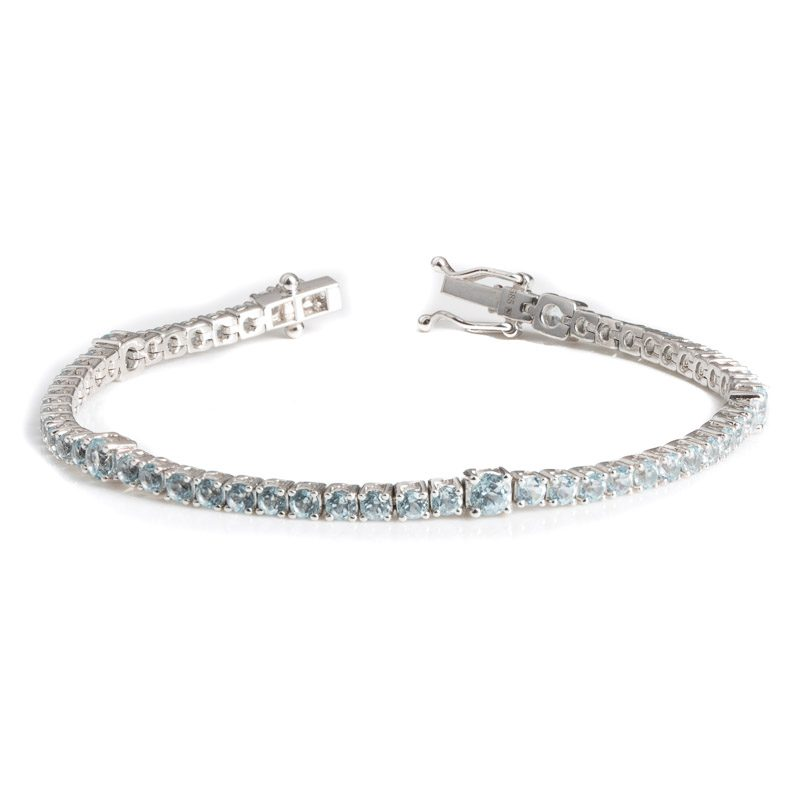 Aquamarine Tennis bracelet/ March