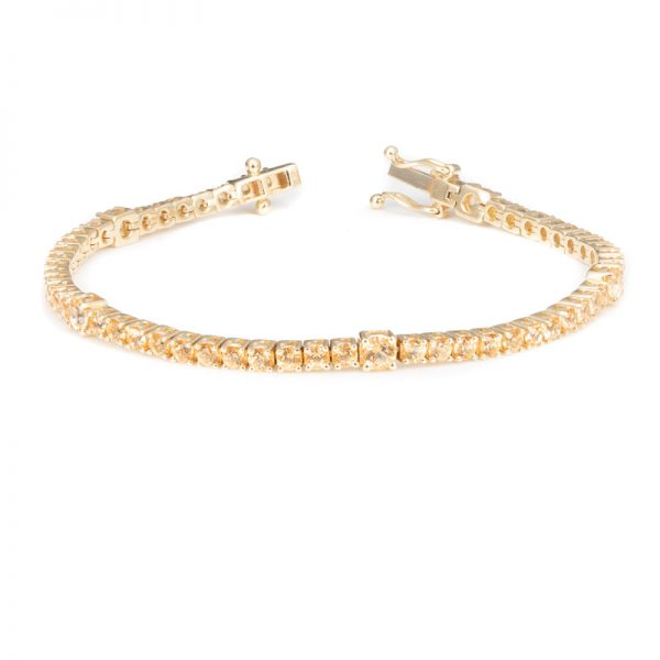 Yellow Topaz Tennis Bracelet/ November