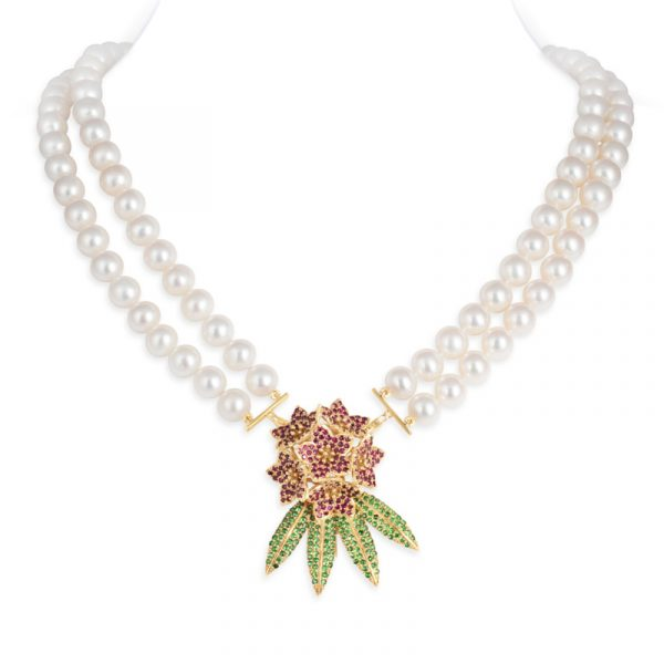 Ruby Laligurans Pearl Necklace